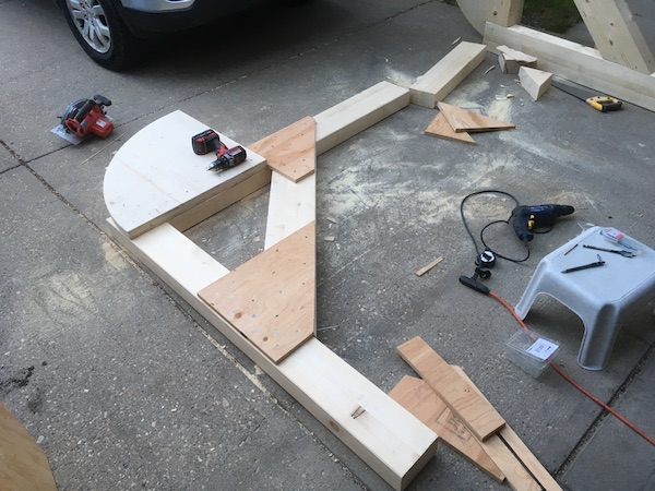 Building a wooden DIY car rotisserie