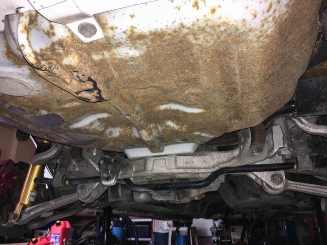 Rust on spare wheel well of Evo 6