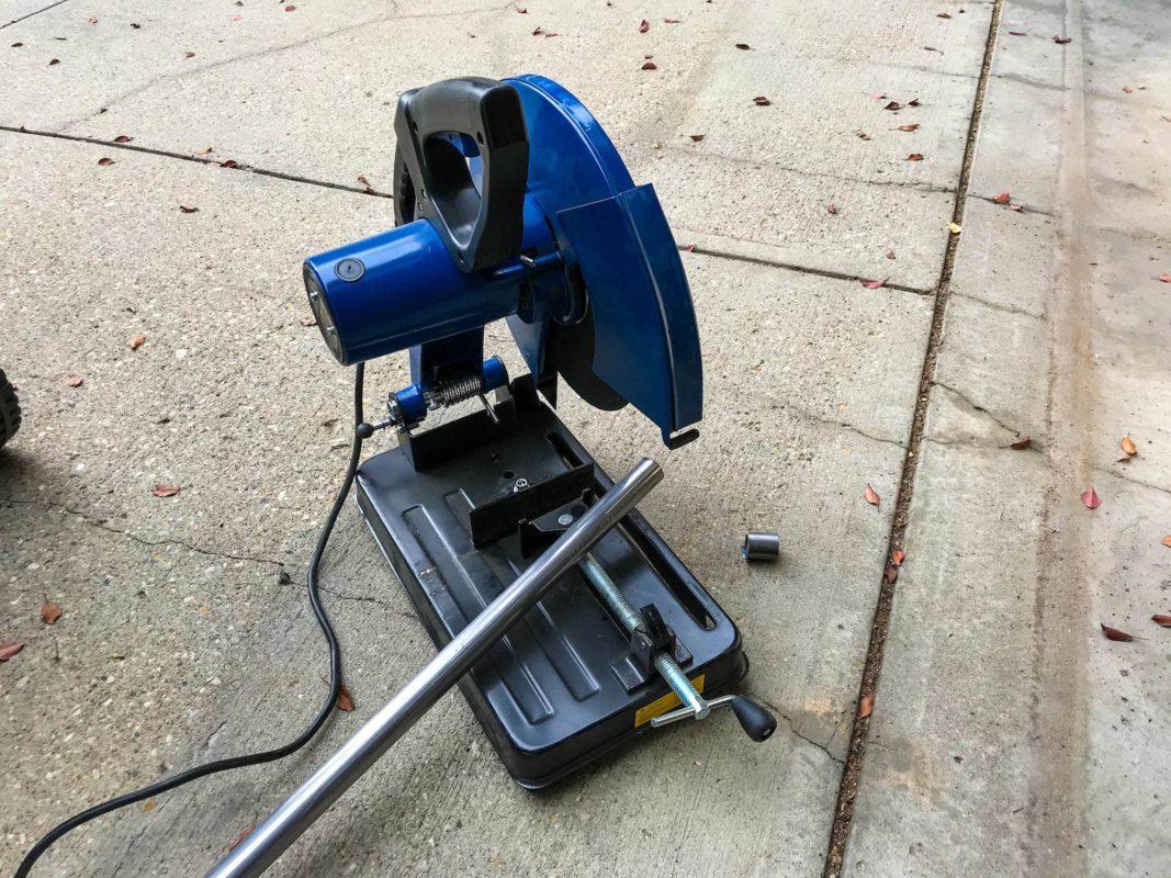Cutting steel tube for trunk brace in Evo 6